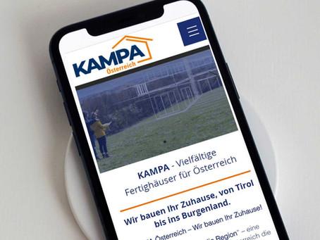 Unsere Website im neuen Design - kampa.at