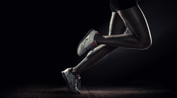 Sports background. Runner