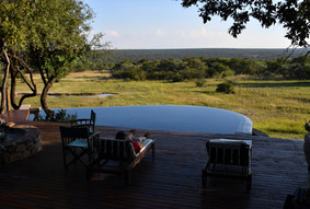 Swimming pool view from Zangarna lodge