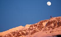 fin de journée sur l'Alpe d'Huez