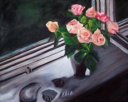 Rosen im Fenster