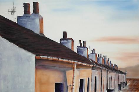 Worker Cottages Ellenabaich/Schottland