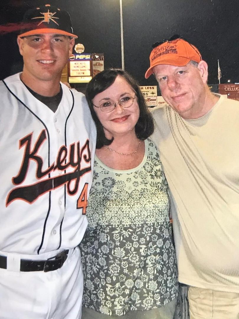 Brian Bock with parents Brenda & Jim Boc