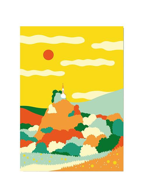 Postkarte Riederstein Sommer