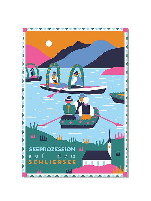 Postkarte Schliersee