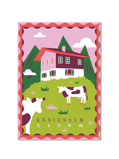 Postkarte Königsalm