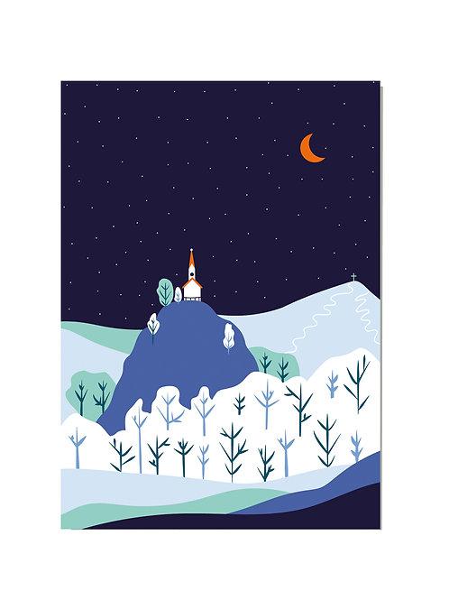 Postkarte Riederstein Winter