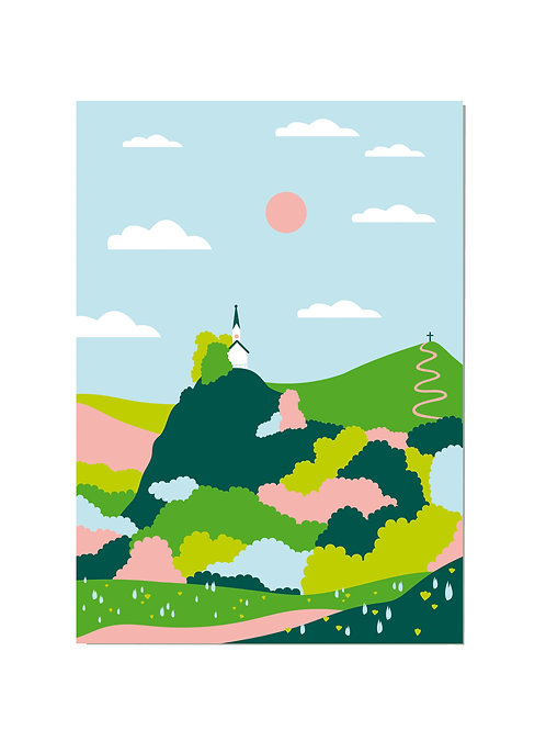 Postkarte Riederstein Frühling
