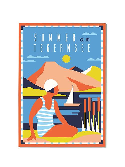 Postkarte Sommer am Tegernsee