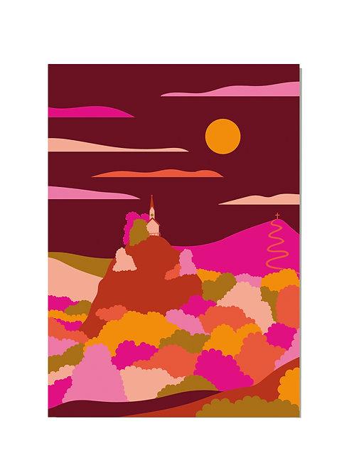 Postkarte Riederstein Herbst