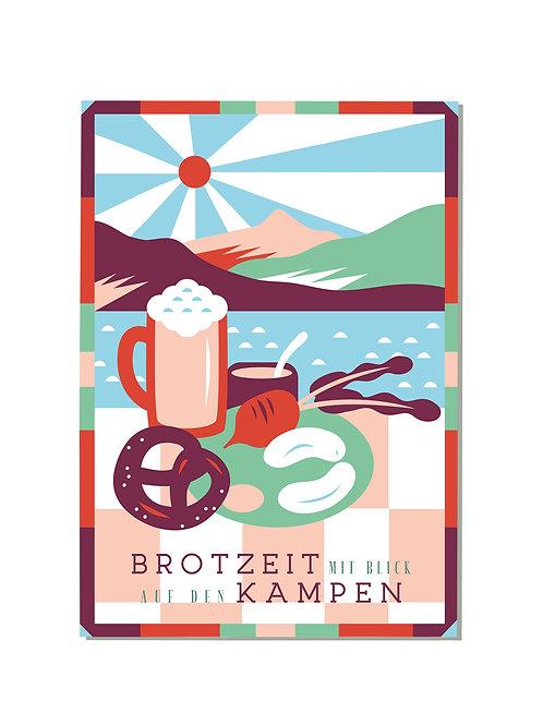 Postkarte Brotzeit