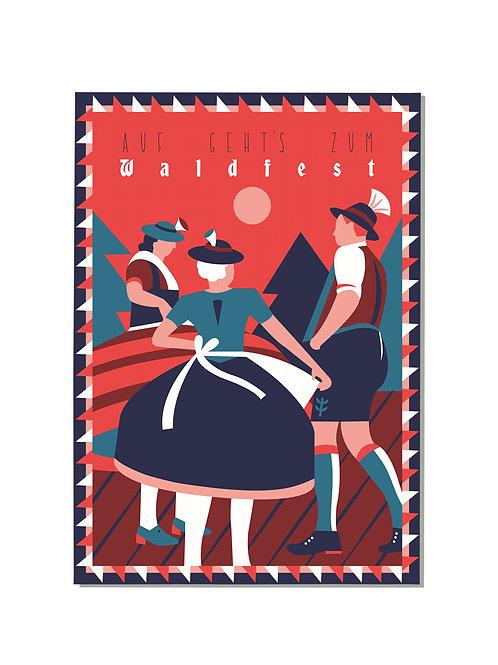 Postkarte Waldfest