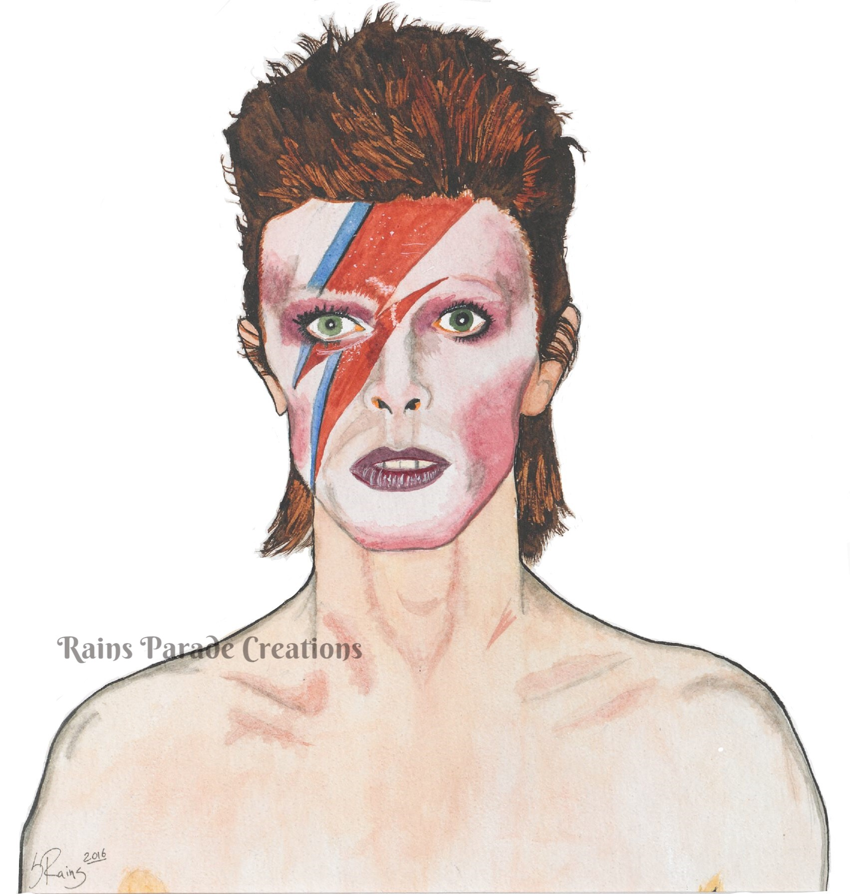 David Bowie - white background
