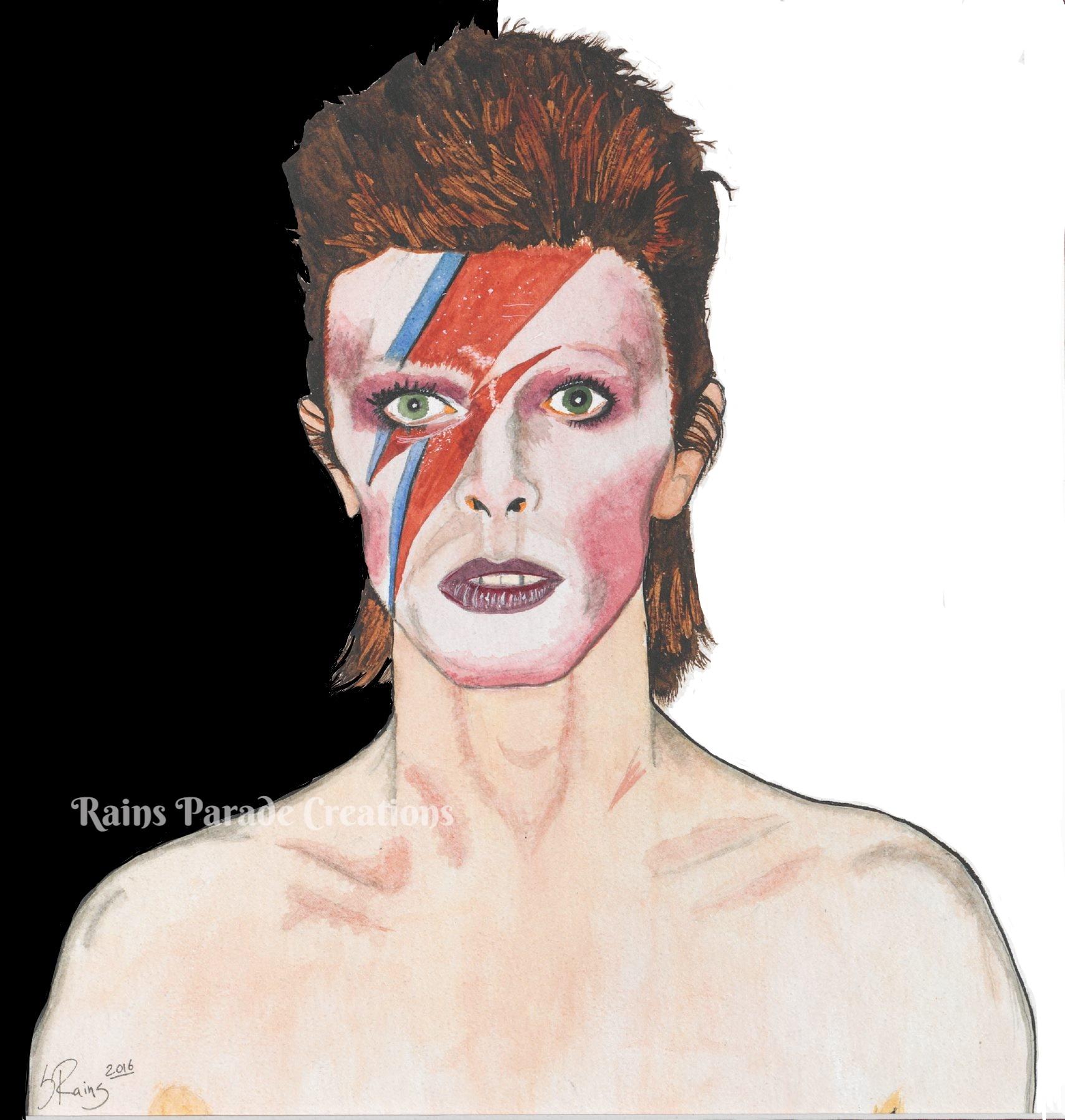 David Bowie - Black/white background