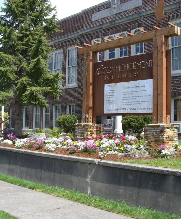 Former Ruston School, now a sales gallery