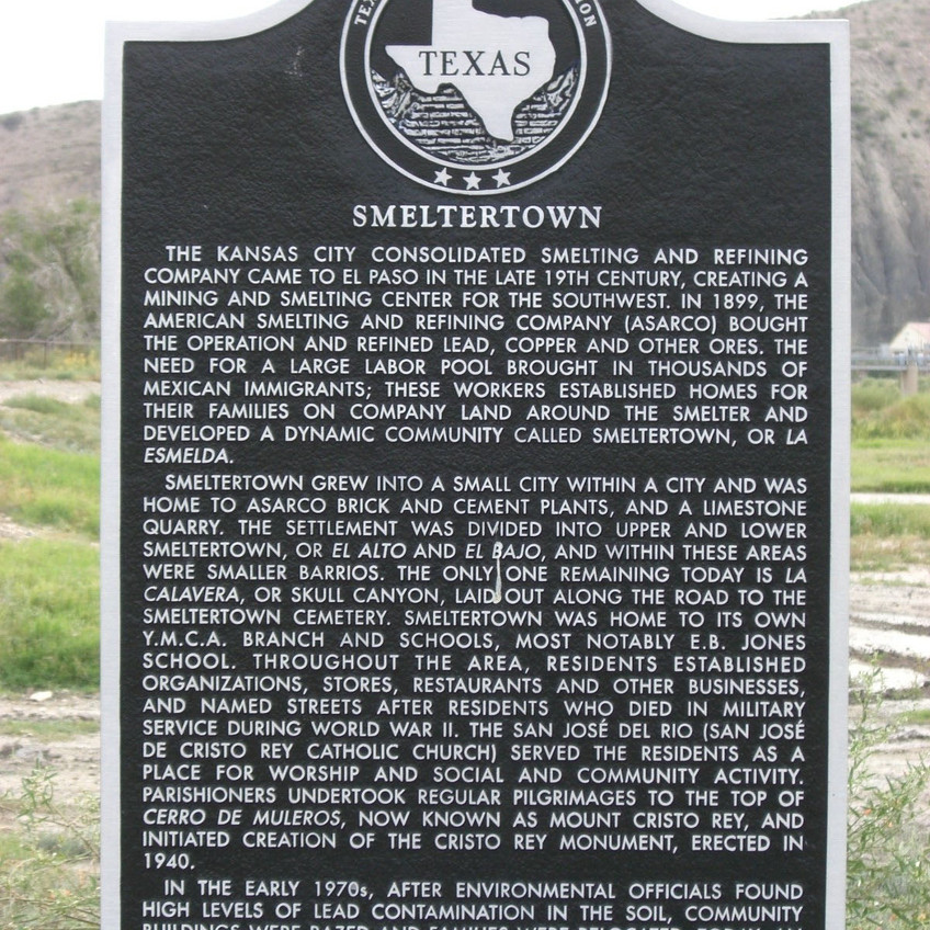 Commemorative Plaque on the Site of the Former Smeltertown Community