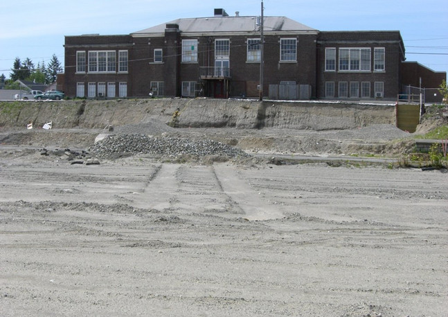 Former Ruston School-Clearing the Ground for a High-Rise Apartment