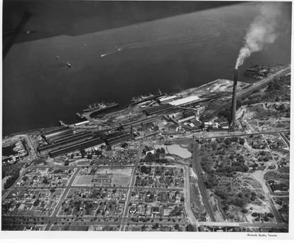 ASARCO Smokestack Over Ruston, WA.