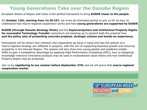 Young Generations Take over the Danube Region