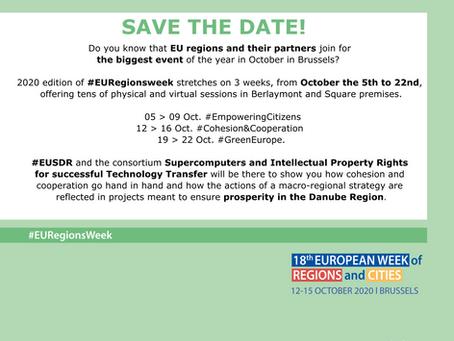 SAVE THE DATE #EURegionsweek