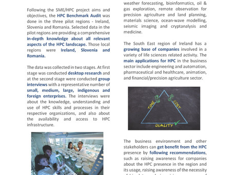 SME/HPC project Newsletter 2 - High Performance Computing -selected data in the regions