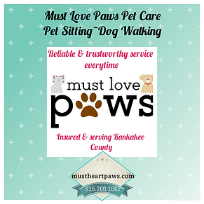 Pet sitter dog walker bourbonnais