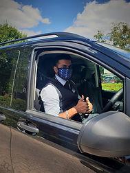 Faisal Mask In Car .jpeg