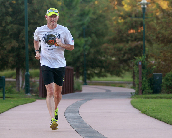 Eric putting the miles in