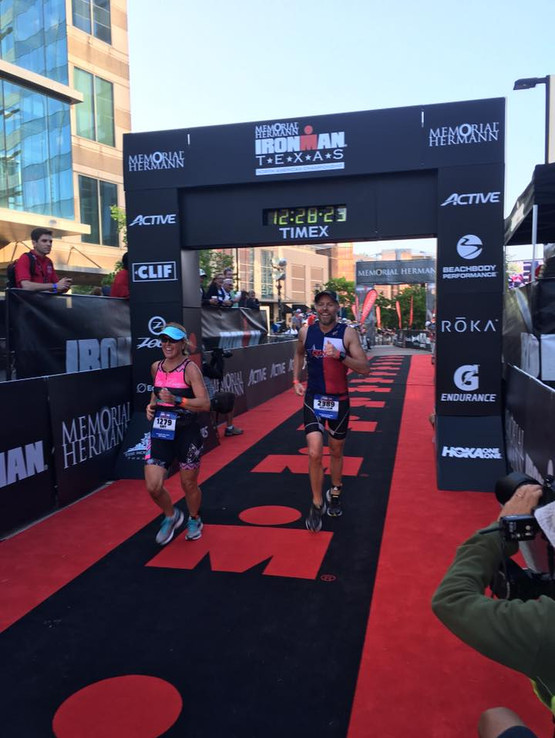 Amy and Bill Wells finishing together!