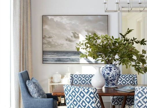Stylish Living For Less: Blissful Blue Dining Room