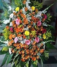 Coroa de Flores  Flores do campo e gérberas