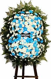 Coroa de Flores  Do Grêmio  Crisântemos brancos e tingidos