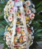 Coroa de flores de flores mistas