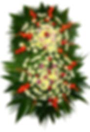 Coroa de Flores  Crisântemos, palmas e margaridas
