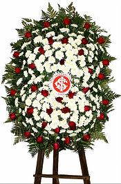 Coroa de Flores  Do Internacional  Crisântemos e rosas vermelhas