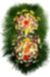 Coroa de Flores  Gérberas e flores do campo mistas
