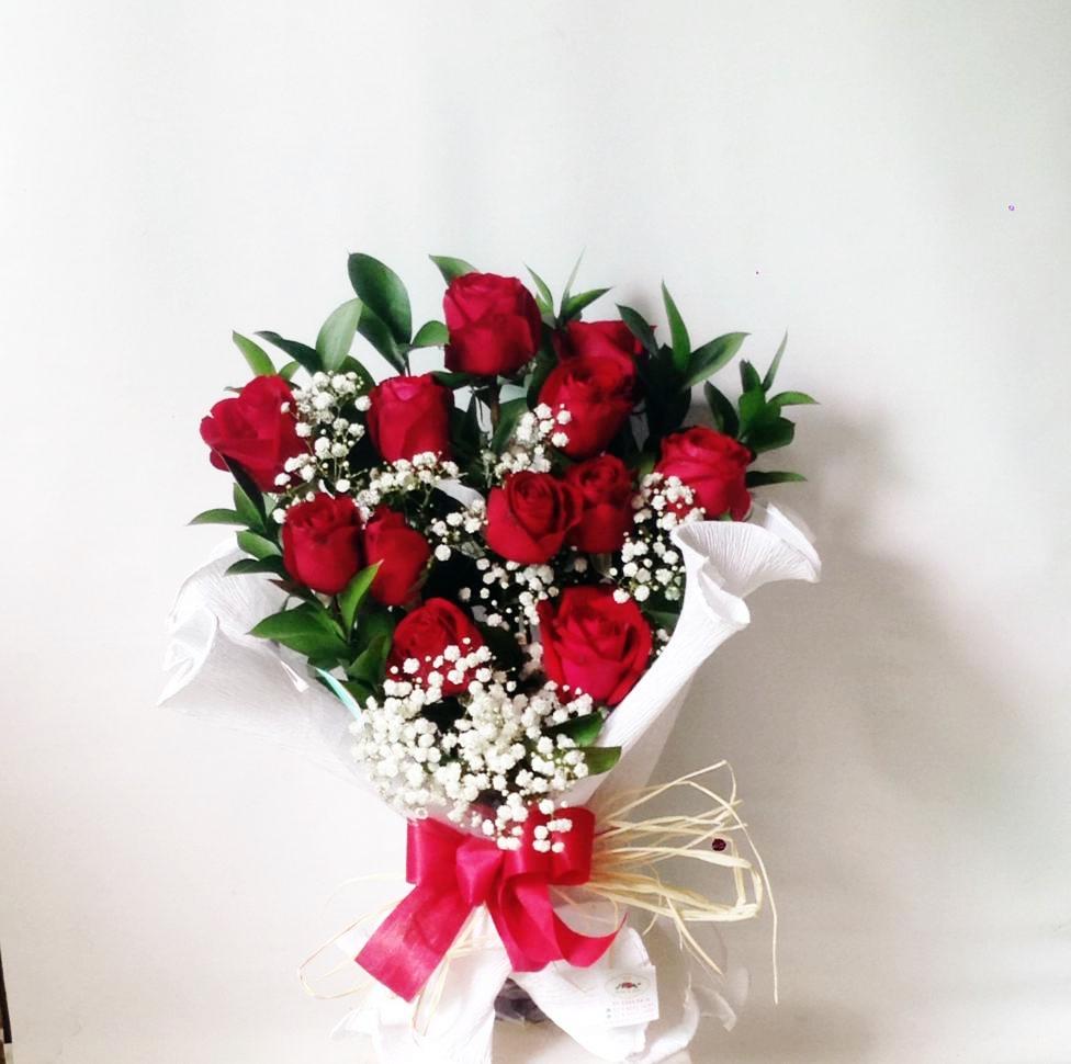 Buquê de rosas vermelhas e mosquitos