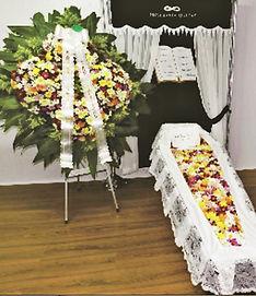 Conjunto de coroa de flores e mistas