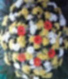 Coroa de Flores  Crisântemos e gérberas  