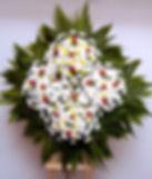 Coroa de Flores de crisântemos,rosas e mosquitinhos