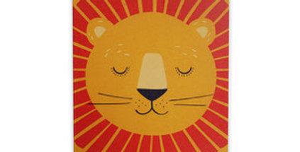 Nachhaltige Grußkarte - Löwe