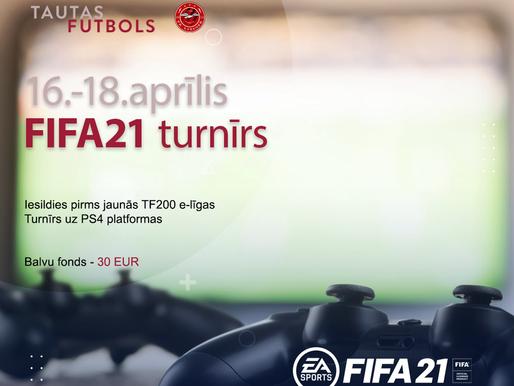 Piesakies FIFA21 turnīram