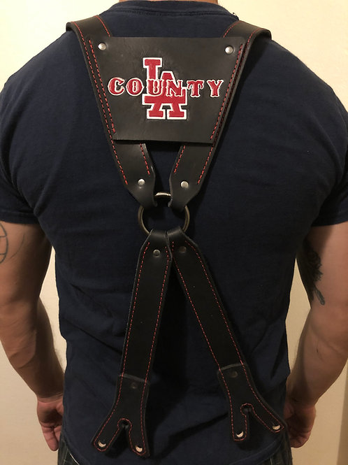 LACoFD Leather Suspenders + FREE NAME STAMPING