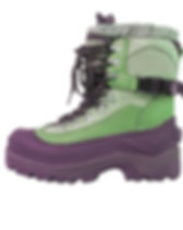Green and Purple Hiking Boots