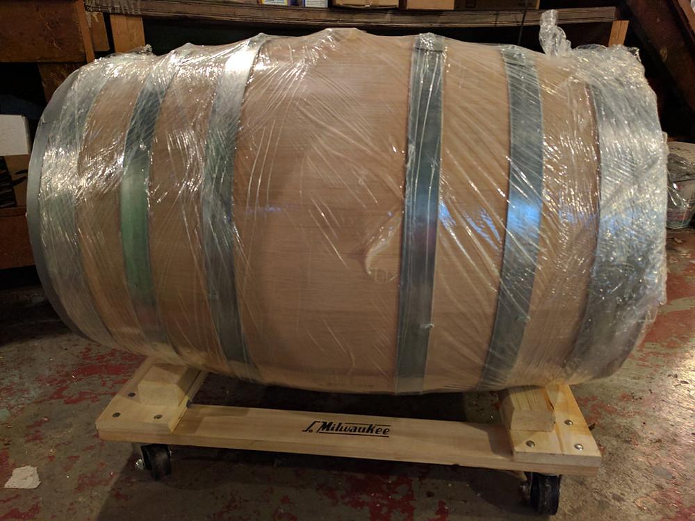 Oak Barrel Dolly