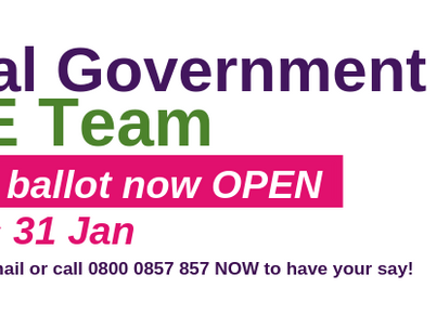 VOTE HERE - Local Govt Pay Online Ballot – call to accept offer