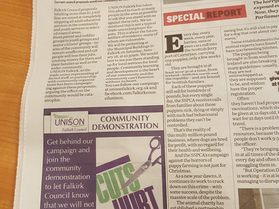 CLD Campaign - Falkirk Herald Editorial