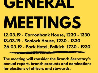 Annual General Meetings 2019