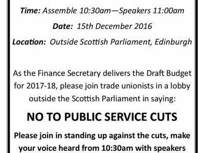 Join the trade union lobby of Parliament - Thursday 15th December