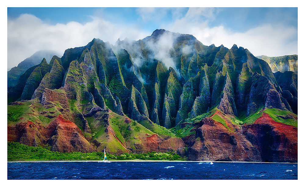 The beautiful Napali Coast.